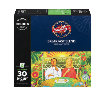 K-Cup Breakfast Blend Coffee Pods, 30 units