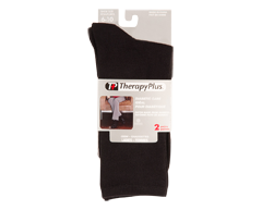 Image of product Therapy Plus - Bamboo Flatknit Crew Women, 2 pairs, 9-11 Black