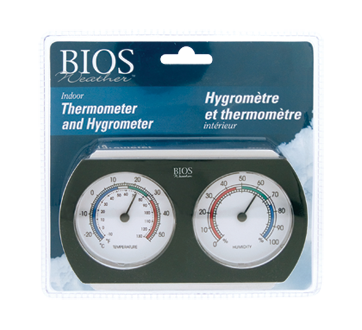 Indoor Thermometer and Hygrometer, 1 unit
