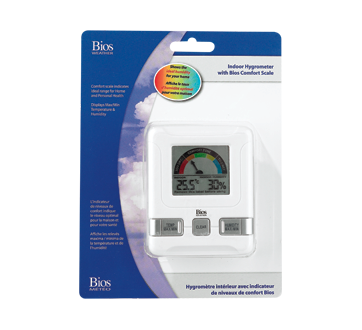 Indoor Hygrometer with Bios Confort Scale, 1 unit