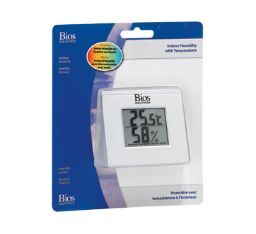 Indoor Hygrometer with Thermometer, 1 unit
