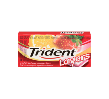Image 3 of product Trident - Trident Layers Strawberry & Citrus, 1 unit