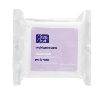 Facial Cleansing Wipes, 25 units