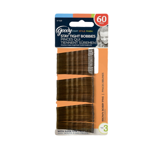 Bobby Pins, 60 units, Brown