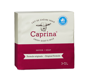 Image of product Caprina - Fresh Goat's Milk Soap, 3 x 90 g, Original formula