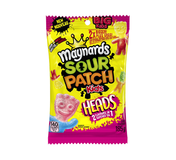 Image of product Maynards - Sour Patch Kids Big Headz 2 in 1, 185 g