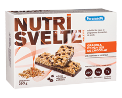 Image of product Personnelle - Nutrisvelte Meal Replacement Bars, 6 x 65 g, Granola and Chocolate Chip Bars