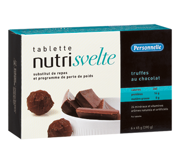 Image 1 of product Personnelle - Nutri Svelte Meal Replacement Bars, 6 x 390 g, Chocolate Truffle