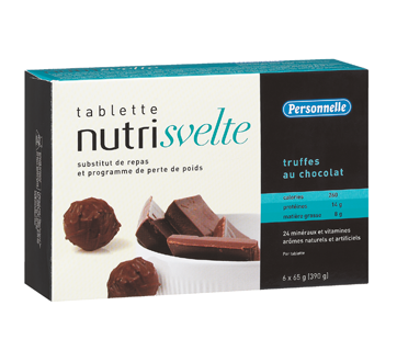 Image 2 of product Personnelle - Nutri Svelte Meal Replacement Bars, 6 x 390 g, Chocolate Truffle