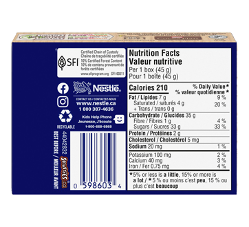 Image 2 of product Nestlé - Smarties Candy Coated Milk Chocolate, 45 g