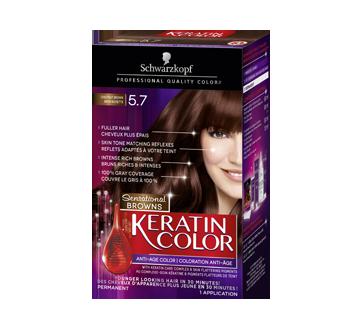 Keratin Color Sensational Brown Hair Color, 1 unit