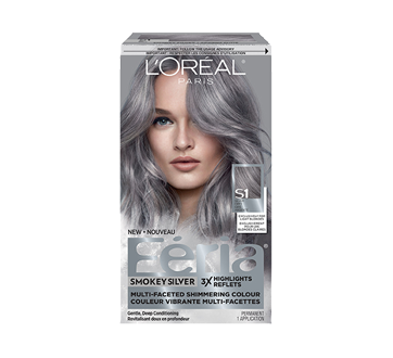 Feria Smokey Silver Permanent Hair Colour, 1 unit