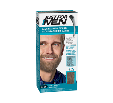 Image du produit Just For Men - Gel colorant moustache et barbe, 1 unité brun pâle M-25