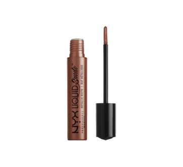 Image 2 of product NYX Professional Makeup - Liquid Suede Metallic Matte Lipstick, 4 ml Mauve Mist