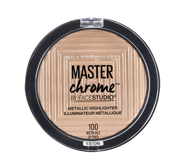 Image du produit Maybelline New York - Facestudio Master Chrome illuminateur métallique, 5,5 g Molten Gold
