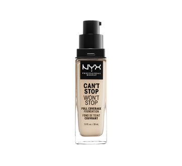 Image 2 of product NYX Professional Makeup - Can't Stop Won't Stop Full Coverage Foundation, 30 ml Pale
