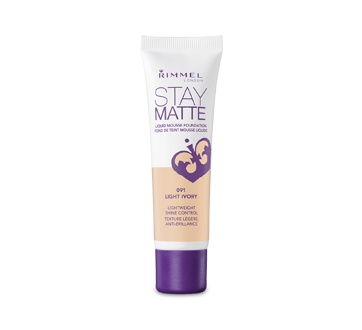 Image of product Rimmel London - Stay Matte Liquid Mousse Foundation, 30 ml #091 Light Ivory