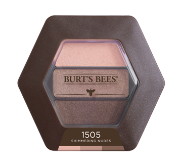 Image 1 of product Burt's Bees - 100% Natural Eye Shadow Palette with 3 Shades, 3.4 g Shimmering Nudes