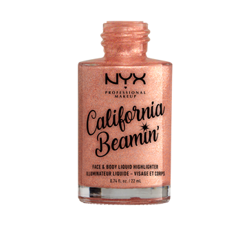 Image 2 of product NYX Professional Makeup - California Beamin' Face & Body Liquid Highlighter, 22 ml Beach Babe