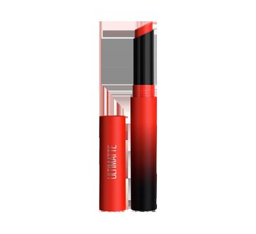 Image 2 of product Maybelline New York - Color Sensational Ultimatte Slim Lipstick, 1.7 g More Scarlet
