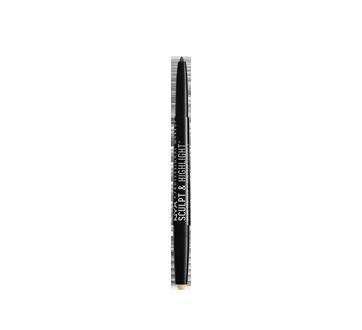 Image 2 of product NYX Professional Makeup - Sculpt & Highlight Brow Contour Pencil, 1 unit Taupe-Vanilla