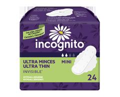 Image du produit Incognito - Serviettes ultraminces mini à rebords, 24 unités