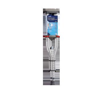 Image du produit Personnelle - Béquilles universelles en aluminium 3 en 1, 2 unités