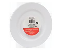 Image du produit Home Exclusives - Assiettes en plastique, 6 unités, rondes, 7 pouces