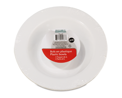 Image du produit Home Exclusives - Bols en plastique, 6 unités, 7 pouces