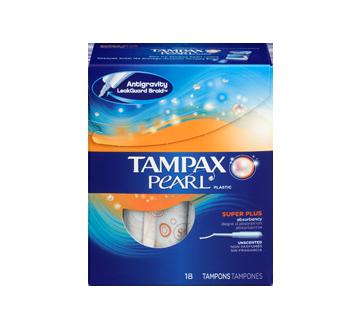 Image 3 du produit Tampax - Pearl tampons super plus non parfumés, 18 unités