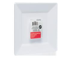 Image du produit Home Exclusives - Assiettes en plastique, 6 unités, carrées, 9 pouces