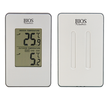 Thermom tre int rieur ext rieur sans fil 1 unit bios for Thermometre sans fil interieur exterieur