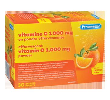 Image du produit Personnelle - Vitamine C 1000 mg en poudre effervescente, 30 unités, orange