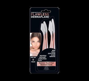 Flawless Dermaplane exfoliant et épilateur facial, 4 unités
