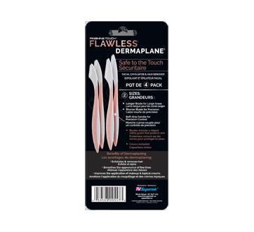 Image 2 du produit Finishing Touch - Flawless Dermaplane exfoliant et épilateur facial, 4 unités