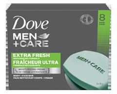 Image du produit Dove Men + Care - Fraicheur ultra pain nettoyant corps + visage, 8 X 90 g