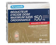 Image du produit Personnelle - Réducteur d'acide dose maximum sans ordonnance, 24 comprimés
