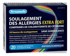 Image du produit Personnelle - Soulagement des allergies extra fort, 20 unités