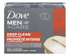 Image du produit Dove Men + Care - Fraicheur et propreté pain nettoyant corps + visage, 8 X 90 g