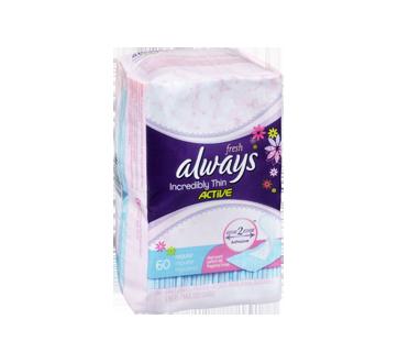 Image 2 du produit Always - Incroyablement minces active protège-dessous, 60 unités