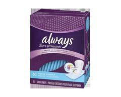 Image du produit Always - Xtra Protection protège-dessous quotidiens réguliers en prochettes individuelles, 36 unités