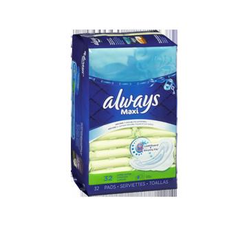 Image 3 du produit Always - Maxi serviettes régulières, 32 unités