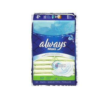 Image 4 du produit Always - Maxi serviettes régulières, 32 unités
