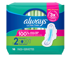 Image du produit Always - Serviettes ultra-minces, 16 unités