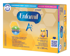 Image du produit Enfamil A+ - Enfamil A+ liquide concentré préparation pour nourrissons, 12 x 385 ml