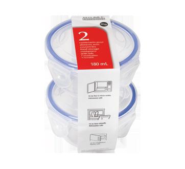 Contenants pour aliments avec couvercles, 180 ml, 2 unités