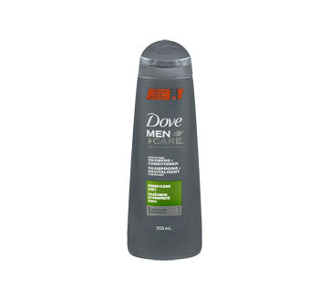 Image 3 du produit Dove Men + Care - Fraîcheur et Propreté shampooing et revitalisant fortifiant , 355 ml