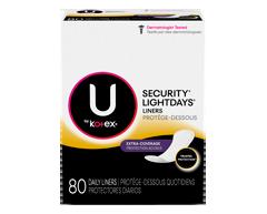 Image du produit U by Kotex - Kotex protège-dessous Lightdays longues avec protection accrue format double
