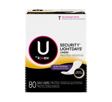 Kotex protège-dessous Lightdays longues avec protection accrue format double