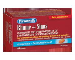 Image du produit Personnelle - Rhume + sinus, 40 caplets